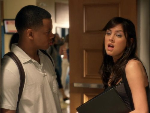 Still of Jessica Stroup and Tristan Wilds in 90210 (2008)