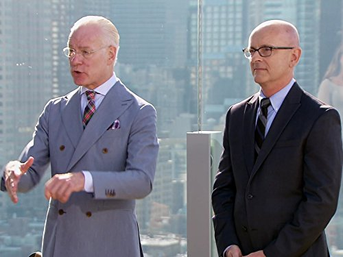 Still of Tim Gunn and Brian Bolain in Project Runway (2004)