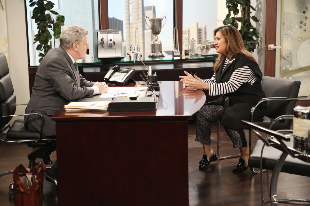 Still of Sam McMurray and Cristela Alonzo in Cristela (2014)