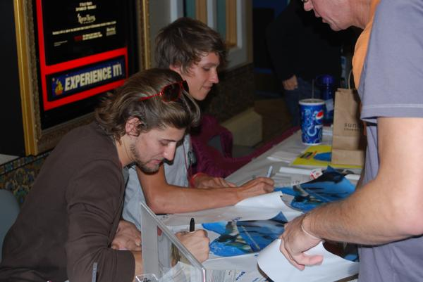 Winner: Best Actor Tye Olson and his 'Watercolors' co-star Kyle Clare signing posters late October 2008 at the Tampa International Gay & Lesbian Film Festival
