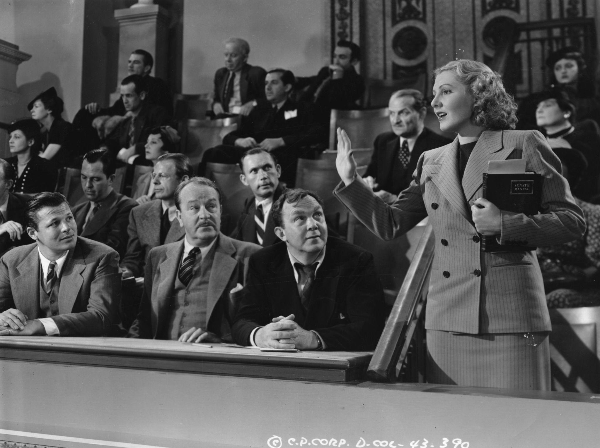 Jean Arthur, Jack Carson and Thomas Mitchell in Mr. Smith Goes to Washington (1939)