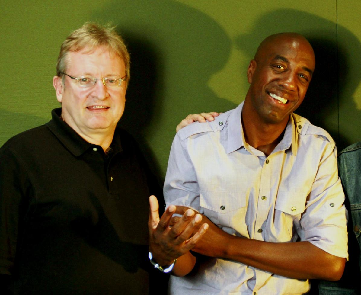 John Davies and JB Smoove on set of Phunny Business