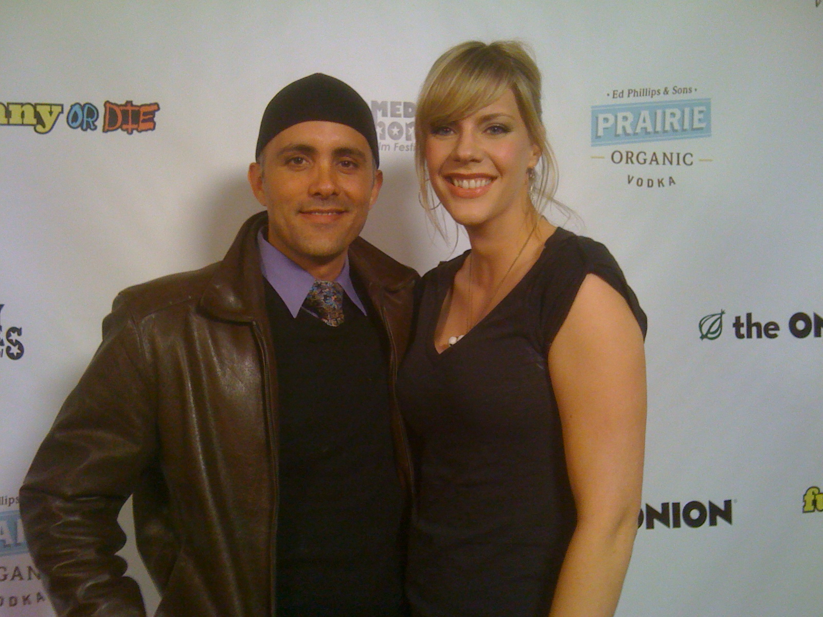 Simon Anthony and Jenny Flack at a Los Angeles Film Festival for After Dinner.