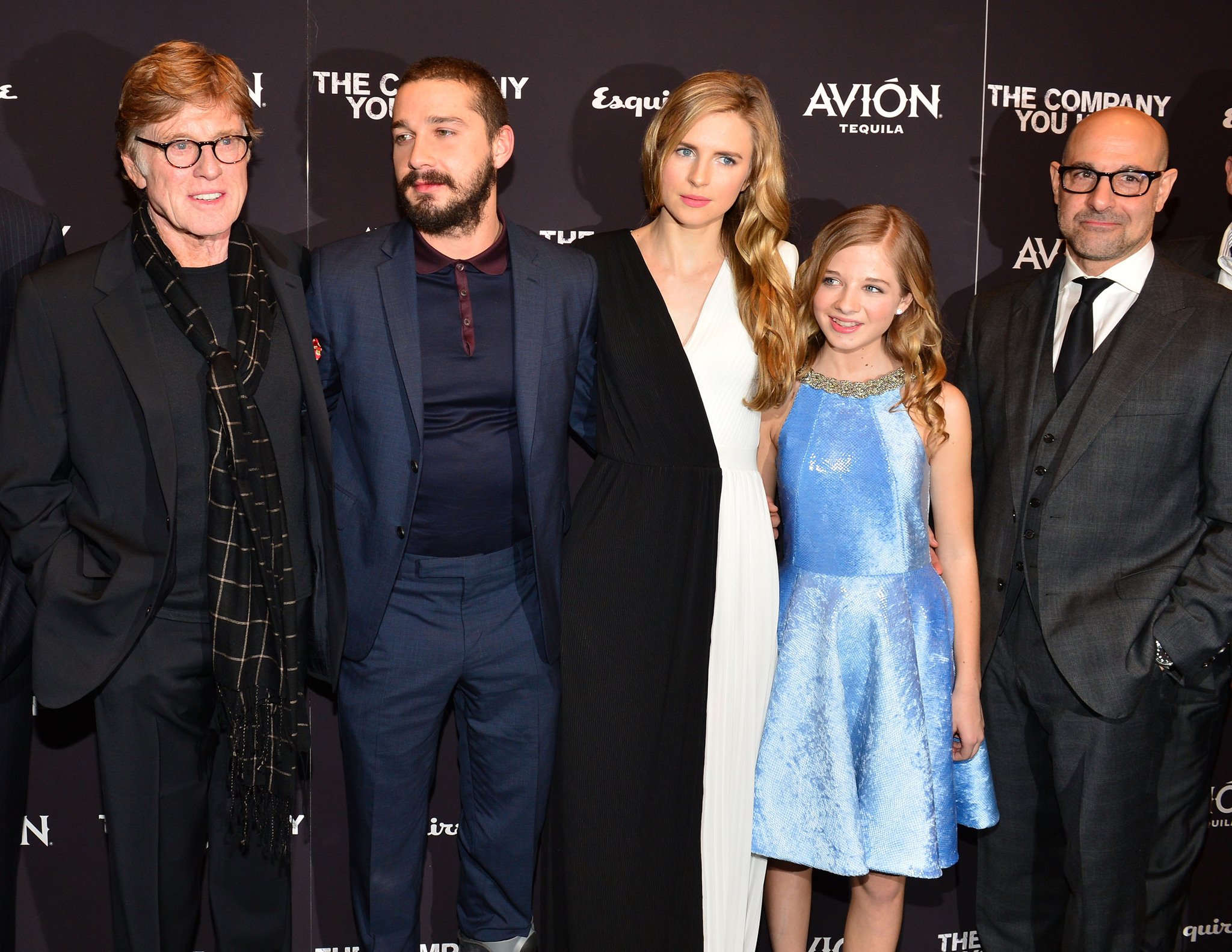 Robert Redford, Stanley Tucci, Shia LaBeouf, Brit Marling and Jackie Evancho at event of The Company You Keep (2012)