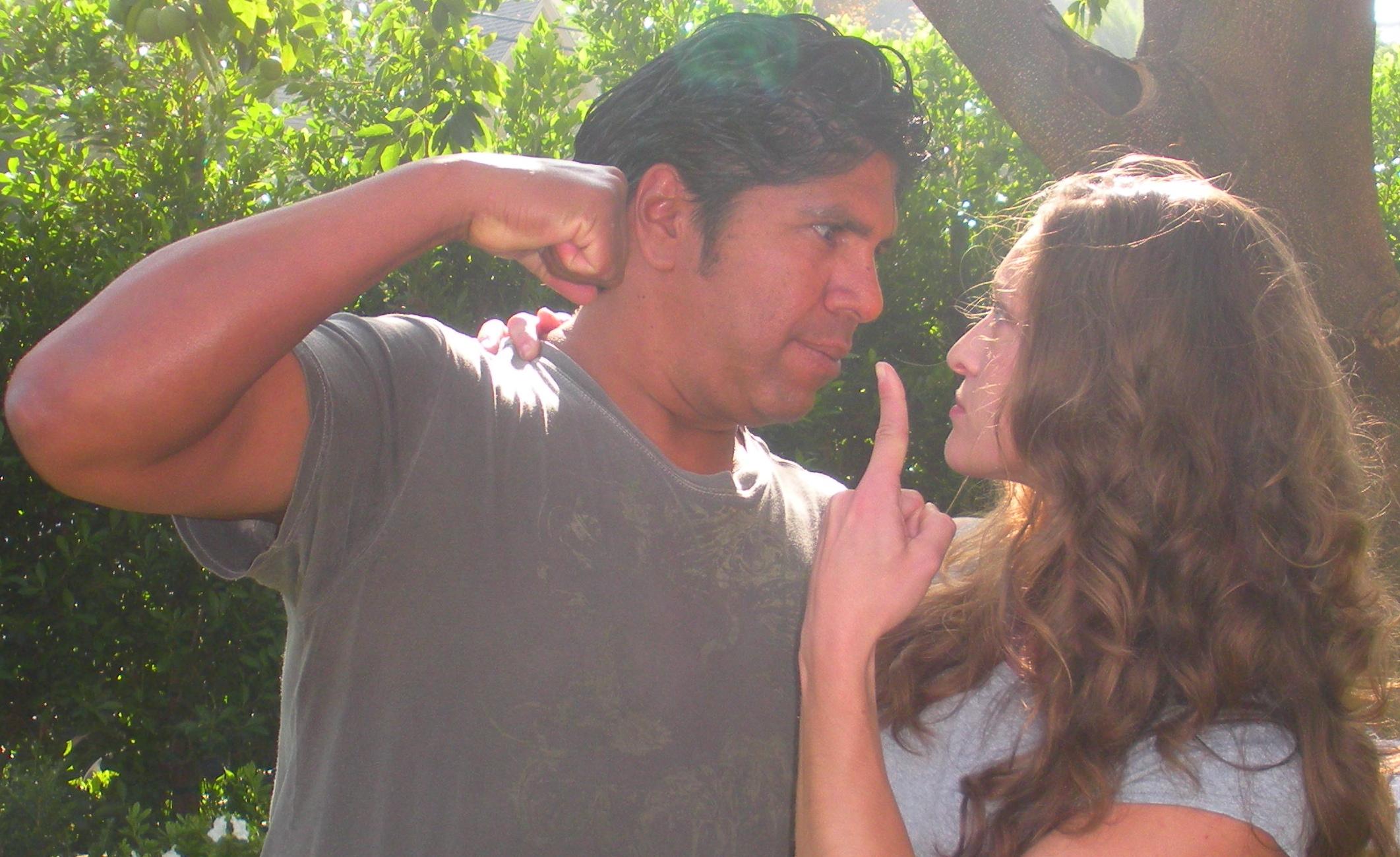 Gordon Vasquez, Shevaun Kastl, On Location 1st day filming