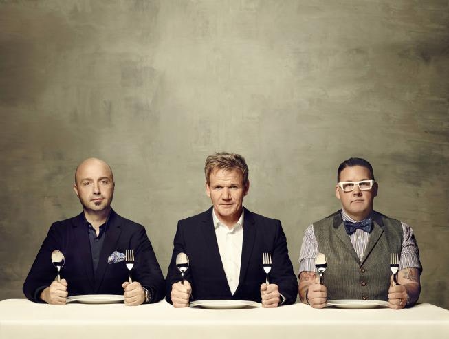 Still of Gordon Ramsay, Joe Bastianich and Graham Elliot in Masterchef (2010)