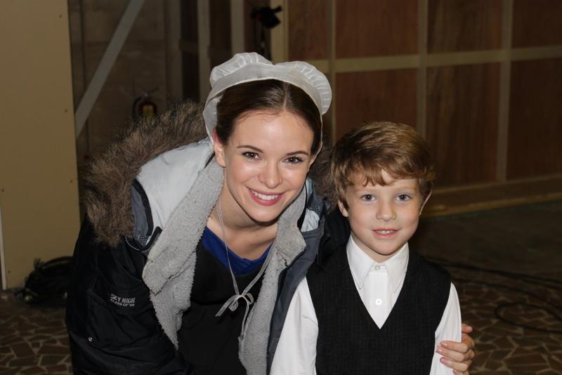 Wyatt with Danielle Panabaker (Katie Lapp in The Shunning)