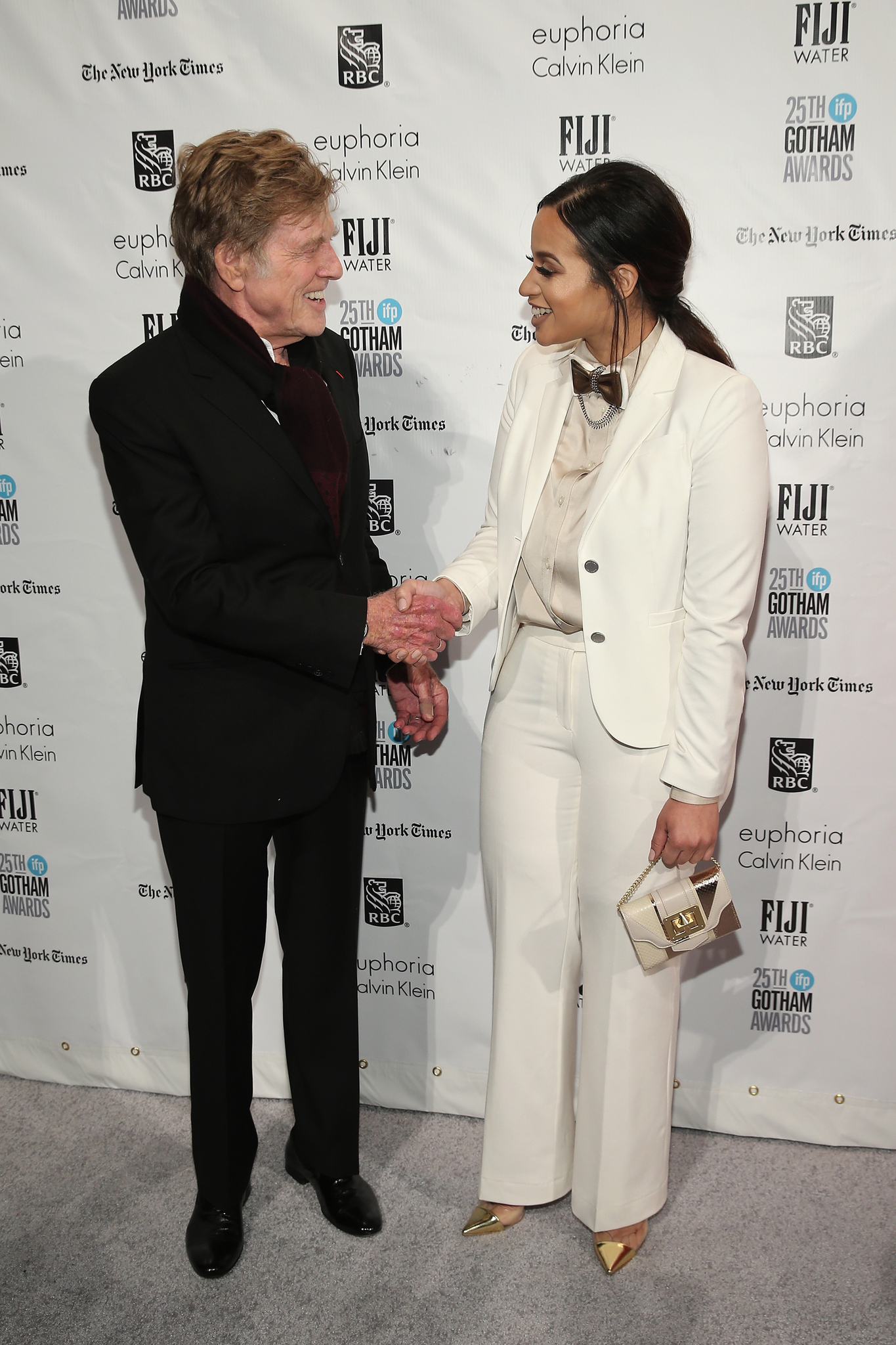 Robert Redford and Dascha Polanco