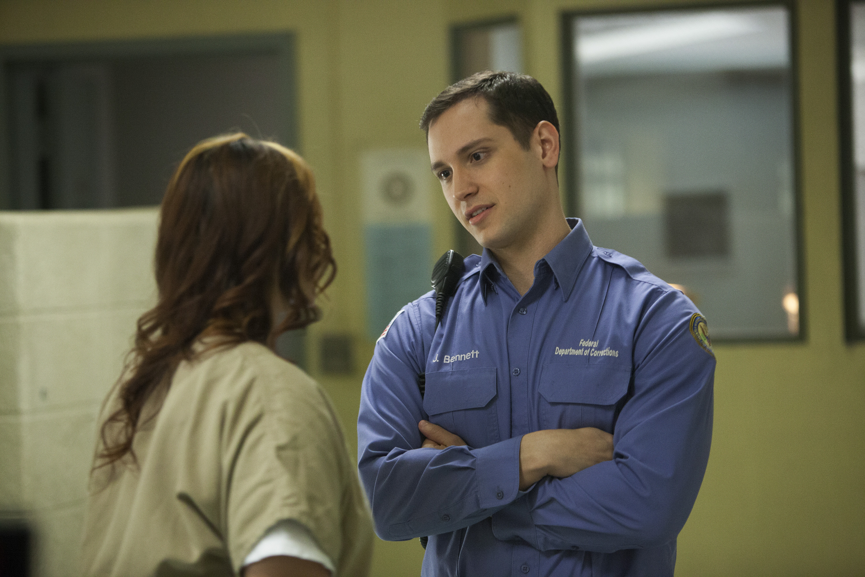 Still of Matt McGorry and Dascha Polanco in Orange Is the New Black (2013)