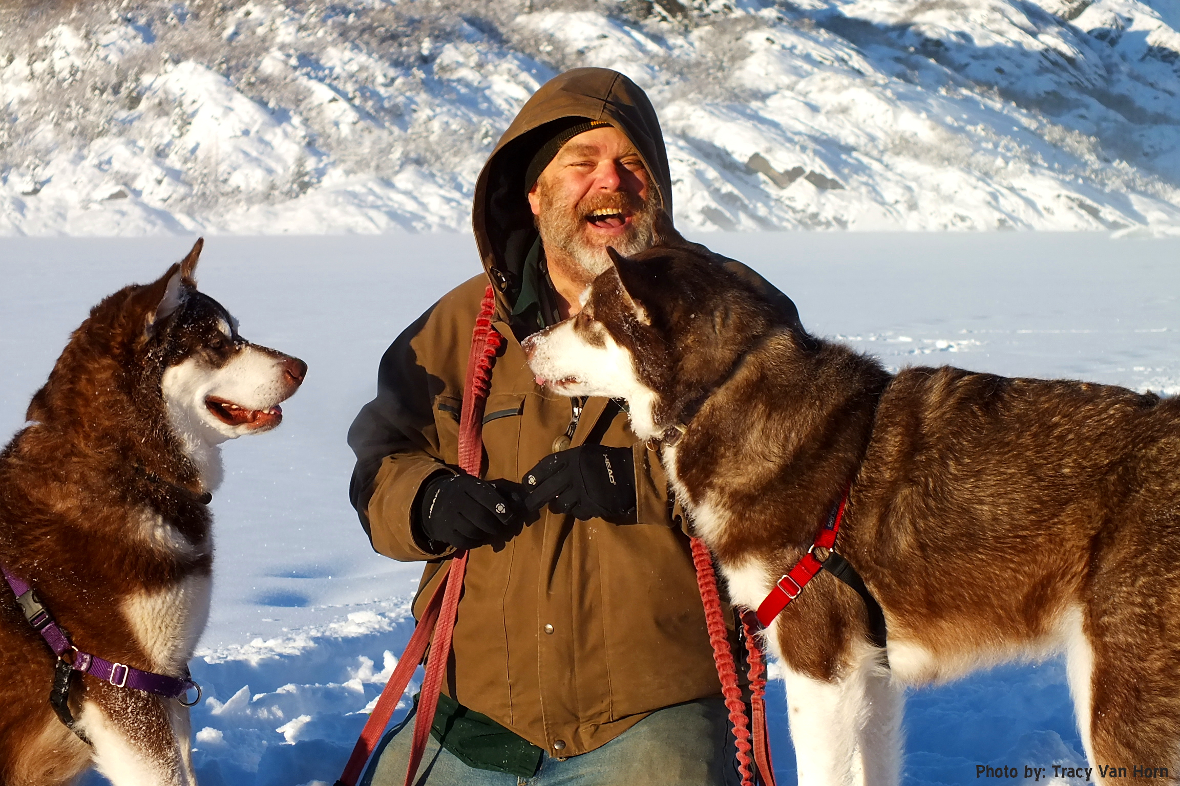 The Two that Make 3 with Me - In Love. Mendenhall Glacier Juneau Alaska. From Puppy Mill to the big screen an Alaskan Cinderella Story: Skadi & Freya ~ Thank you for your Kindness and Support (PLEASE CLICK LIKE!)