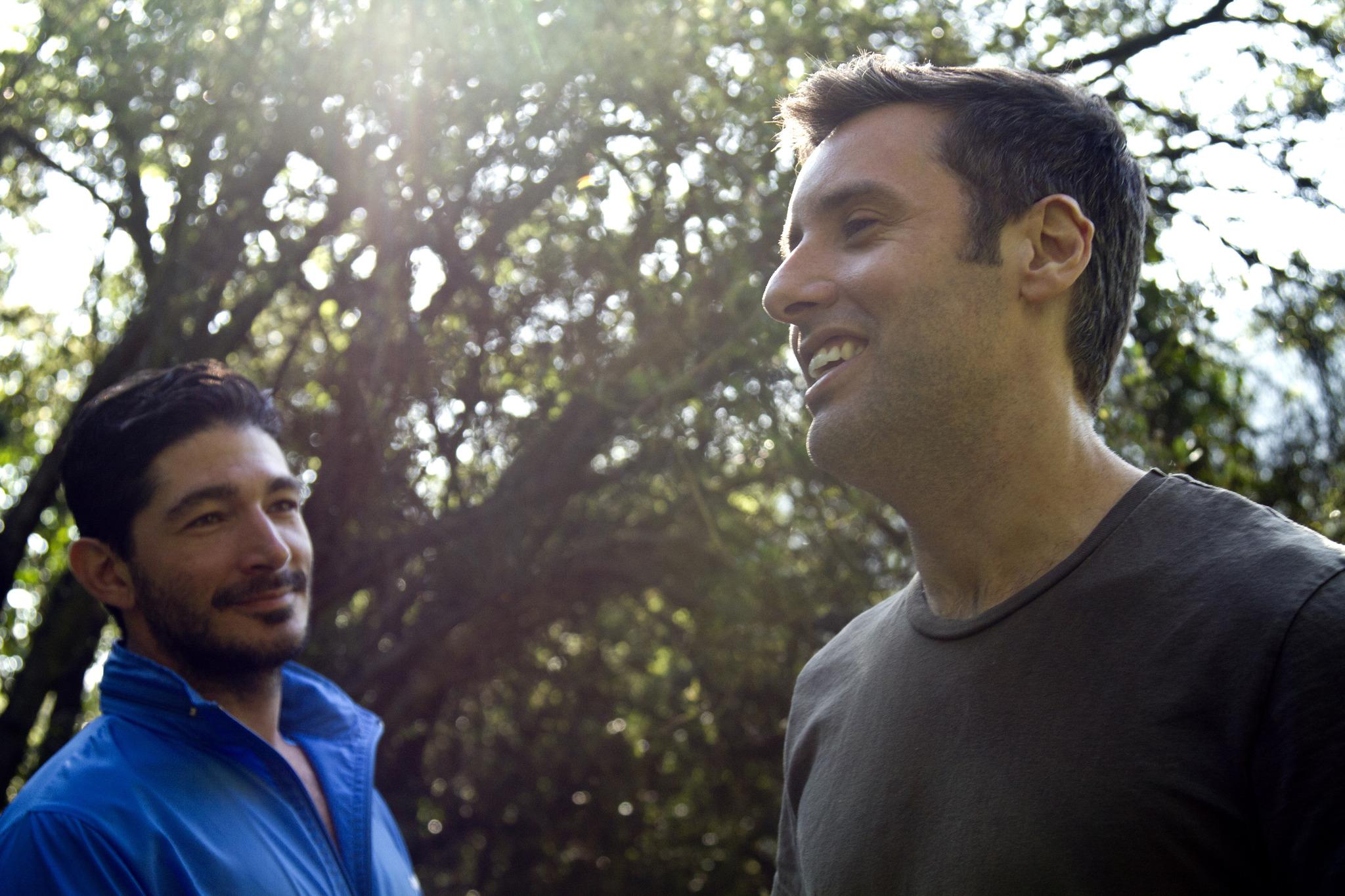 Still of Mark Strano and Frankie Valenti in Tiger Orange (2014)