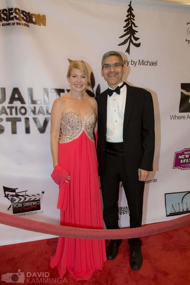 Nov. 8, 2015. Corinne Meadors and Steinway artist and jazz musician Jim Martinez at the Equality International Film Festival, Sacramento, CA.