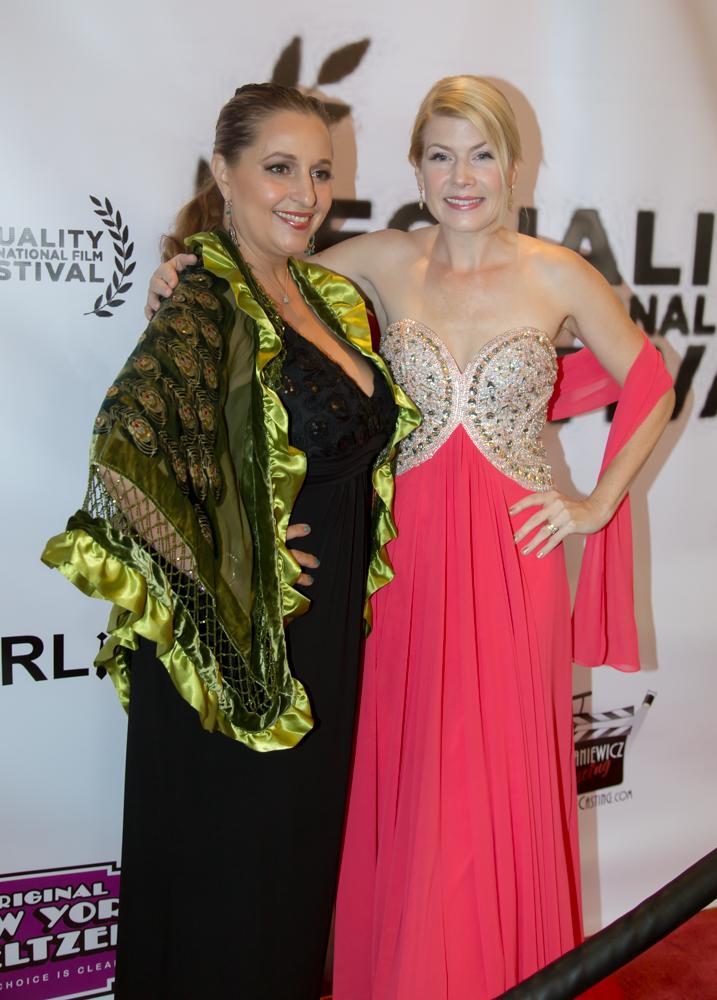 Nov 8, 2015. Corinne Meadors with vocalist Ramana Vieira at the Equality International Film Festival, Sacramento, CA.