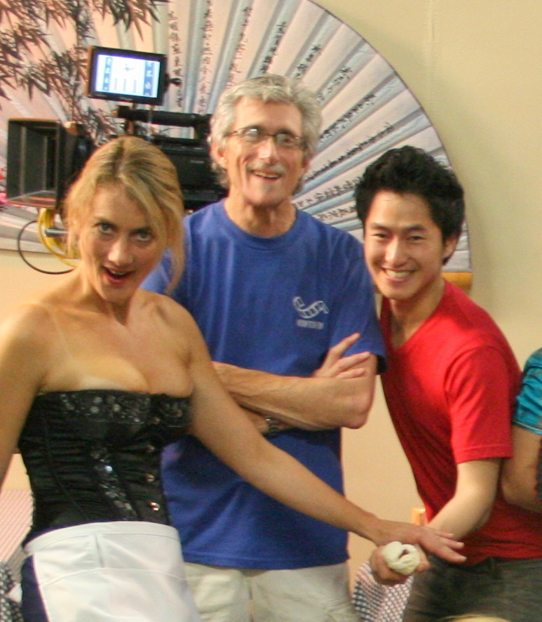 Simon Twu with Carl Bartels, Melissa Tracy on Kung Food Fight!