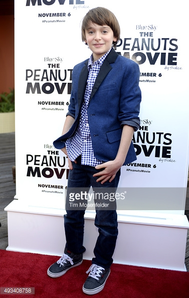 Noah Schnapp attends the premiere of 20th Century Fox's 'The Peanuts Movie' at Pier 39 in San Francisco, California.