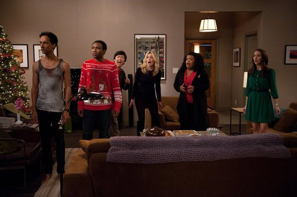 Still of Ken Jeong, Yvette Nicole Brown, Alison Brie, Gillian Jacobs, Danny Pudi and Donald Glover in Community (2009)