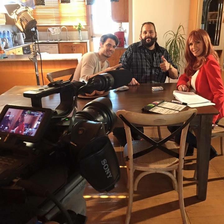 On set filming Brousko Mprousko Brusko Μπρουσκο