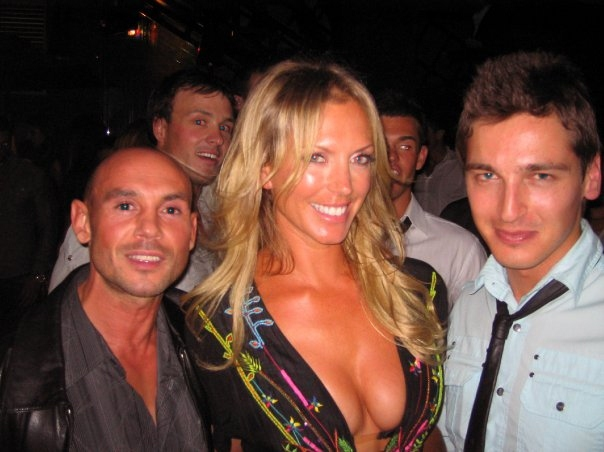 Neil Kelliher,Annalise Braakensie and Christian Poppi