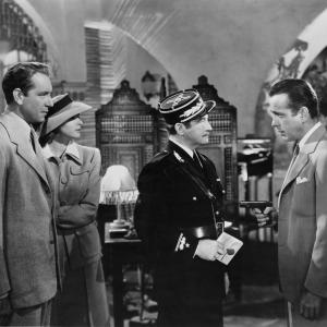 Ingrid Bergman, Humphrey Bogart, Claude Rains, Paul Henreid