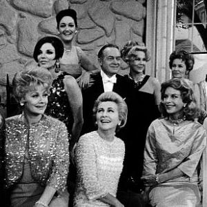 Joan Fontaine, Lucille Ball, Joan Collins, Bob Hope, Hedy Lamarr, Jerry Colonna, Signe Hasso, Dorothy Lamour, Virginia Mayo, Vera Miles, Janis Paige
