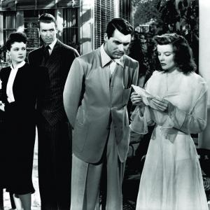 Still of Cary Grant Katharine Hepburn James Stewart and Ruth Hussey in The Philadelphia Story 1940