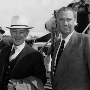 Carol Reed, Alec Guinness, at London Airport, P.A.-Reuter Photo, May 1959, **I.V.