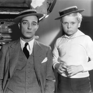 Buster Keaton With Jackie Cooper Circa 1932