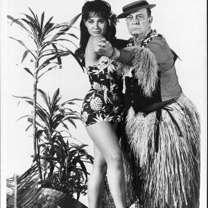 Still of Buster Keaton and Bobbie Shaw Chance in How to Stuff a Wild Bikini (1965)