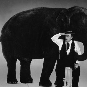 Buster Keaton at Sid Avery's studio,