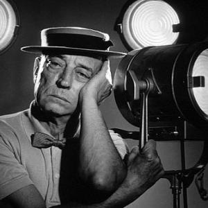 Buster Keaton, 1954. Modern silver gelatin, 14x11. $600 © 1978 Gabi Rona MPTV