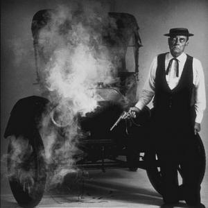 Buster Keaton with a Model T Ford, 1964.
