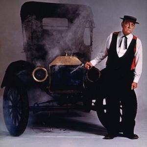 Buster Keaton and a Model T Ford