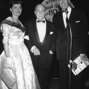 Buster Keaton, Eleanor Keaton, AROUND THE WORLD IN 80 DAYS, premiere, United Artists, 1956, **I.V.
