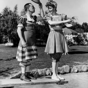 Lucille Ball & Buster Keaton At Ball home