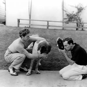 Johnny Weissmuller with Buster Keaton Circa 1932 MGM