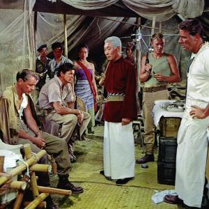 Still of Frank Sinatra, Charles Bronson, Steve McQueen and Peter Lawford in Never So Few (1959)