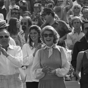 Frank Sinatra with Jilly Rizzo, Barbara Marx and daughter Tina at a Los Angeles Dodgers World Series game
