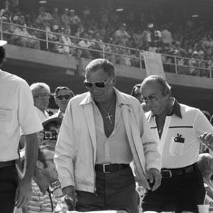 Frank Sinatra with Jilly Rizzo at a Los Angeles Dodgers World Series game