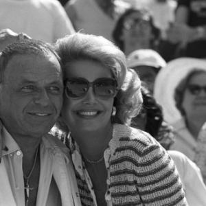 Frank Sinatra and Barbara Marx at a Los Angeles Dodgers World Series game