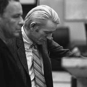 Frank Sinatra with Rod McKuen at a Los Angeles recording session in March of 1969