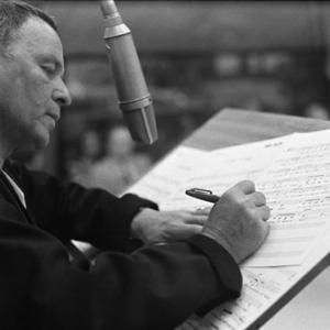 Frank Sinatra at a Los Angeles recording session in March of 1969