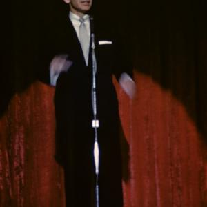Frank Sinatra performing at the Sands Hotel in Las Vegas