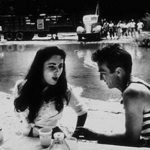 Raintree County Elizabeth Taylor and Montgomery Clift during lunch