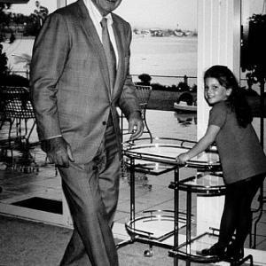 John Wayne and his daughter Marissa at home 1970