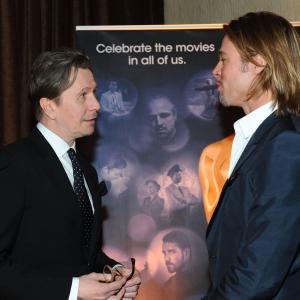 Brad Pitt and Gary Oldman