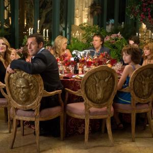 Still of Drew Barrymore, Adam Sandler, Kevin Nealon, Bella Thorne, Emma Fuhrmann and Braxton Beckham in Kartu ne savo noru (2014)