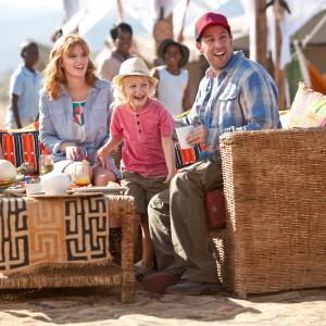 Still of Drew Barrymore, Adam Sandler, Emma Fuhrmann and Alyvia Alyn Lind in Kartu ne savo noru (2014)