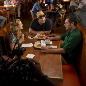 Drew Barrymore, Adam Sandler and Frank Coraci in Kartu ne savo noru (2014)