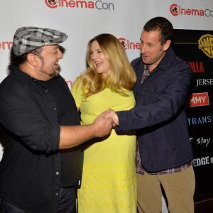 Drew Barrymore, Adam Sandler and Frank Coraci