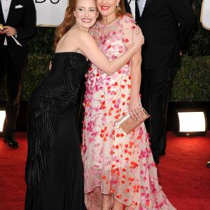 Drew Barrymore and Jessica Chastain